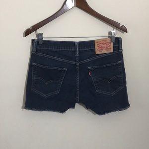 Levi's 511 Denim Cut Off Shorts Size 32